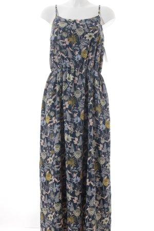s.Oliver Maxikleid stahlblau florales Muster Street-Fashion-Look