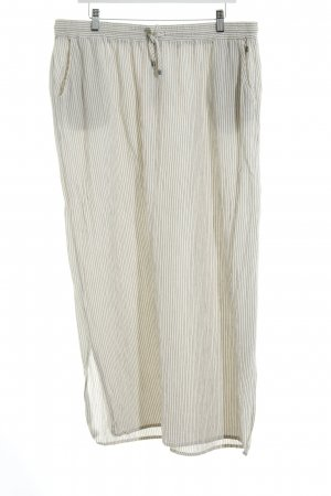 s.Oliver Maxi Skirt natural white-grey striped pattern beach look