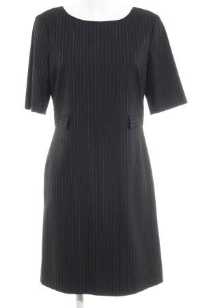 s.Oliver Midi Dress black pinstripe business style