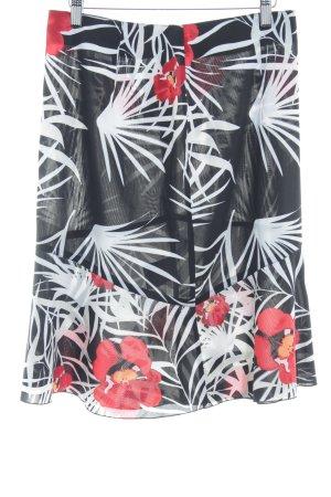 s.Oliver Midirock schwarz-rot florales Muster Casual-Look