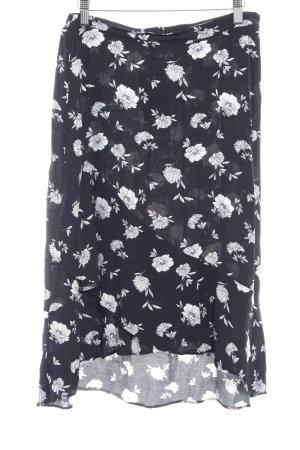 s.Oliver Midirock schwarz-weiß florales Muster Casual-Look