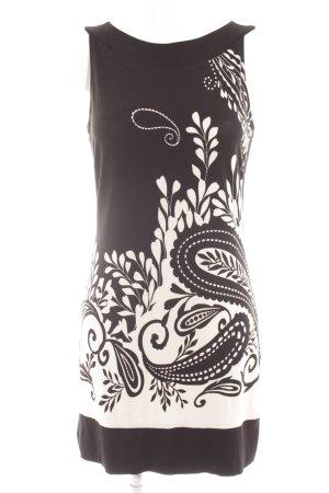 s.Oliver Minikleid schwarz-creme florales Muster Casual-Look