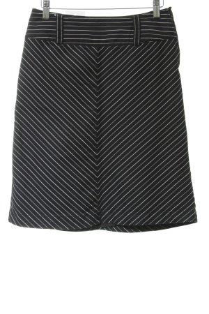 s.Oliver Minirock schwarz-weiß Streifenmuster Business-Look