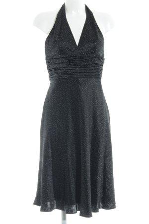 s.Oliver Vestido de cuello Halter negro-crema estampado a lunares