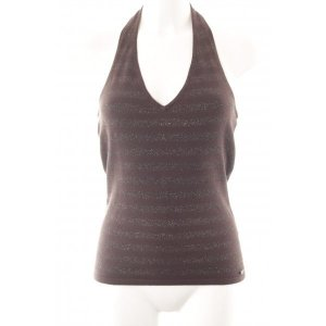 s.Oliver Halter Top silver-colored-dark brown striped pattern casual look