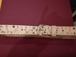 s.Oliver Leather Belt dusky pink