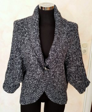 s.Oliver Coarse Knitted Jacket blue-white