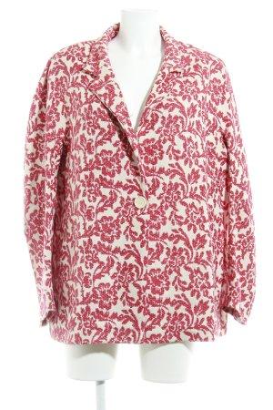 s.Oliver Oversized Jacke dunkelrot-wollweiß Inside-Out-Druck extravaganter Stil