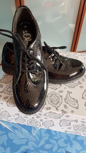 s.Oliver Zapatos estilo Oxford negro