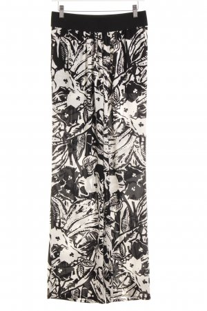 s.Oliver Palazzo Pants black-white allover print casual look