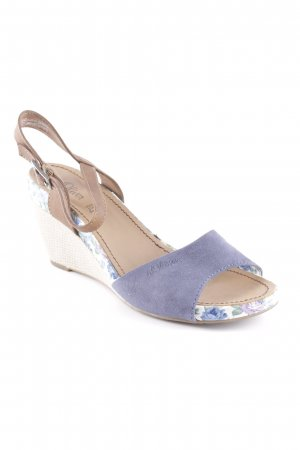 s.Oliver Peeptoe Pumps Blumenmuster Beach-Look