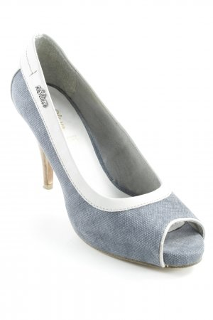s.Oliver Peep Toe Pumps steel blue-pale blue casual look