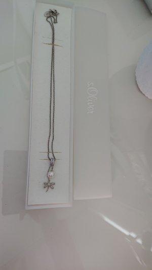 s.Oliver Zilveren ketting wit-zilver