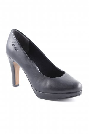s.Oliver Plateau-Pumps schwarz Business-Look