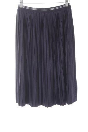 s.Oliver Pleated Skirt dark blue simple style