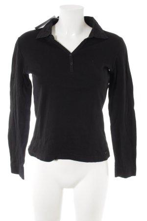 s.Oliver Polo-Shirt schwarz schlichter Stil
