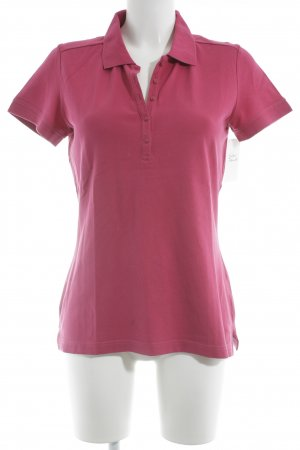 s.Oliver Polo-Shirt violett Casual-Look