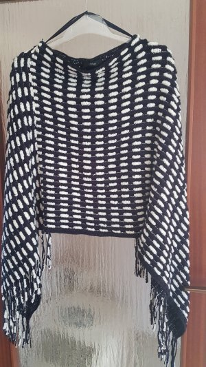 s.Oliver Poncho wit-donkerblauw