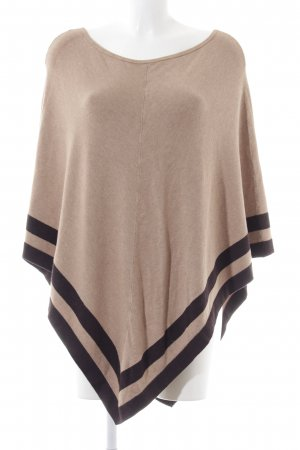 s.Oliver Poncho crema-negro look casual