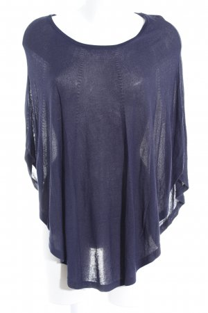 s.Oliver Poncho dunkelblau Casual-Look