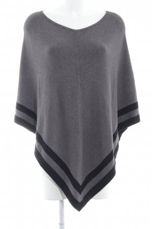 s.Oliver Poncho graubraun Streifenmuster Casual-Look