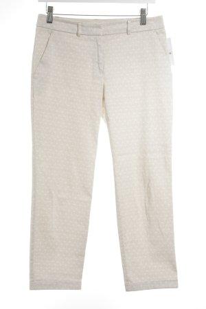 s.Oliver Premium 7/8-Hose beige-weiß Ornamentenmuster Business-Look
