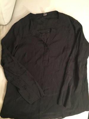 s.Oliver Premium Bluse langarm, mit Seidenpasse, Gr. 44, schwarz, wie NEU