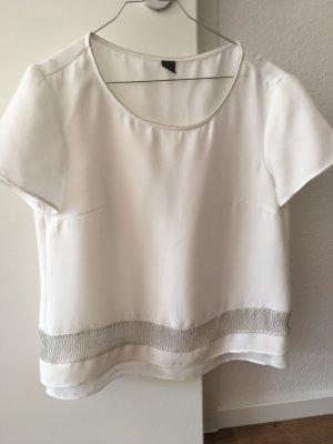 s. Oliver Premium Bluse Shirt weiß Silber Kette 38 S