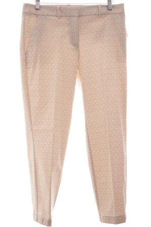 s.Oliver Premium Bundfaltenhose beige-weiß Allover-Druck Elegant