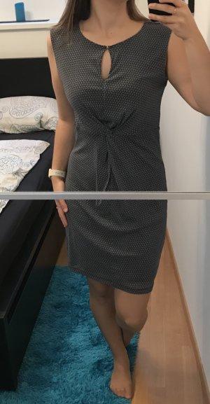 s.Oliver Premium - Kleid doppellagig blau gemustert Gr. 38