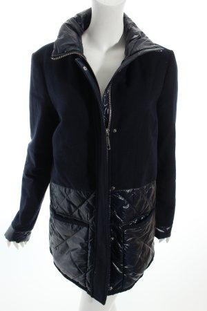 s.Oliver Premium Lange Jacke dunkelblau Steppmuster Kuschel-Optik