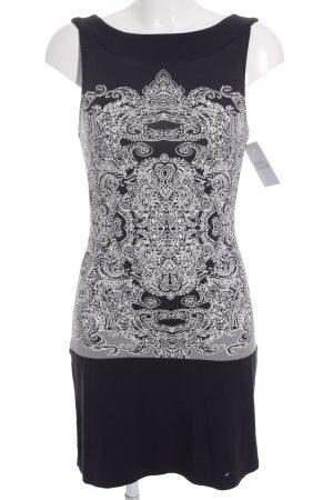 s.Oliver Premium Longshirt dunkelblau-weiß abstraktes Muster Casual-Look