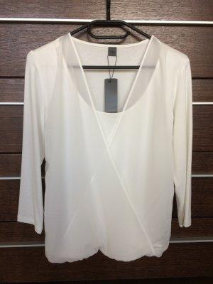S. Oliver Premium Shirt doppellagig weiß, Gr.36