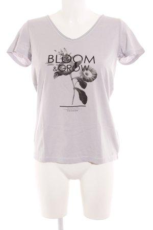 s.Oliver Print-Shirt hellgrau-schwarz Blumenmuster Street-Fashion-Look