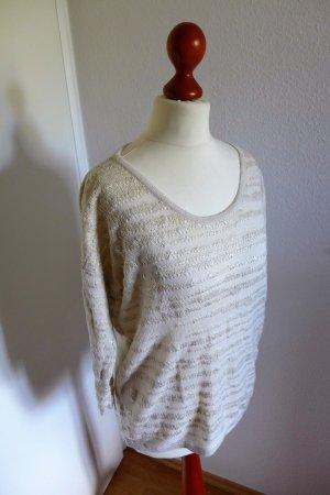 s.Oliver Pulli Pullover weiß beige offwhite silber Gr. 34