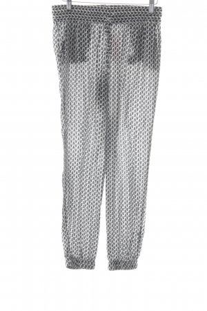 s.Oliver Pantalone bloomers nero-bianco motivo grafico stile casual