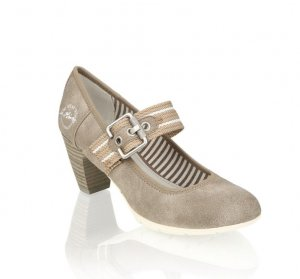 s.Oliver Strapped pumps beige-grey brown synthetic