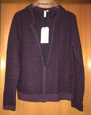 QS by s.Oliver Coarse Knitted Jacket multicolored cotton