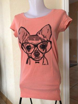 s.Oliver / QS T-Shirt Gr M Korall mit Print