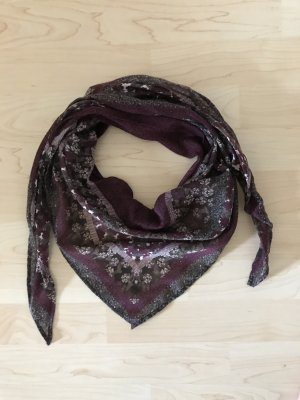 s.Oliver Bufanda de flecos burdeos-púrpura