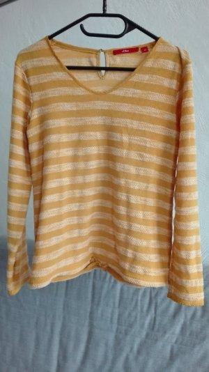 S.Oliver red label Pullover Strickpullover gelb Gr. XS 34