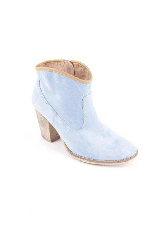 s.Oliver Reißverschluss-Stiefeletten babyblau Street-Fashion-Look