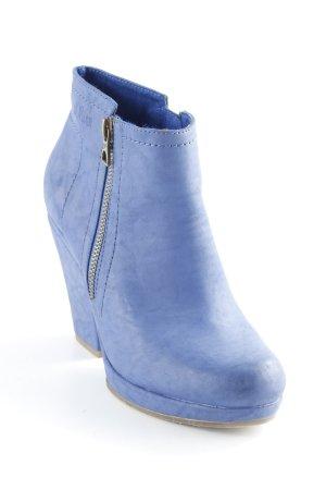 s.Oliver Reißverschluss-Stiefeletten blau Elegant