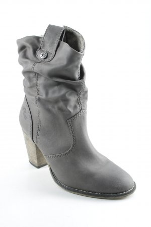 s.Oliver Reißverschluss-Stiefeletten grau Casual-Look