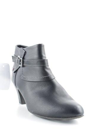 s.Oliver Reißverschluss-Stiefeletten schwarz Casual-Look