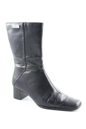 s.Oliver Reißverschluss-Stiefeletten schwarz extravaganter Stil