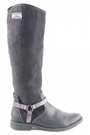 s.Oliver Riding Boots black-dark grey casual look
