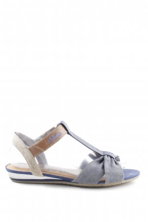 s.Oliver Strapped Sandals blue-light grey casual look
