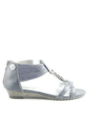 s.Oliver Riemchen-Sandalen graublau-wollweiß Steppmuster Casual-Look
