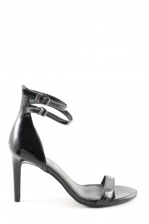 s.Oliver Strapped High-Heeled Sandals black business style
